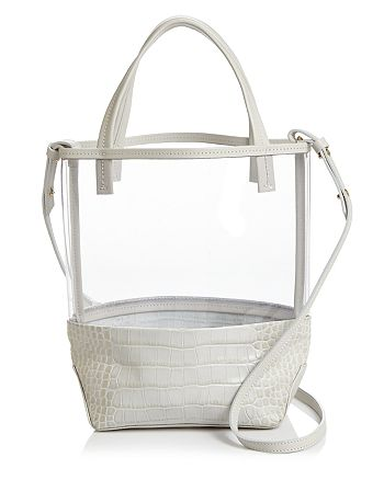 Alice.D - Small Clear & Leather Tote - 100% Exclusive