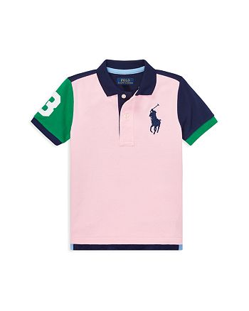 Ralph Lauren - Boys' Color-Block Big Pony Mesh Polo - Little Kid