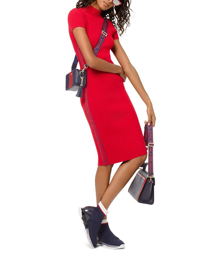 3d6cd4234ca MICHAEL Michael Kors MICHAEL Logo Tape Ribbed Knit Dress ...
