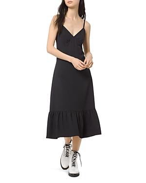 Michael Michael Kors Flounced Midi Slip Dress-Women