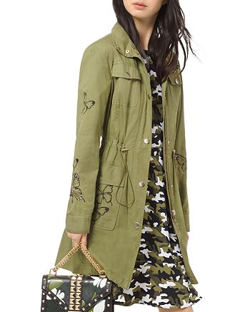 MICHAEL Michael Kors - Butterfly-Embroidered Cargo Jacket