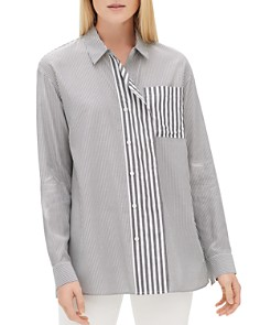 Lafayette 148 New York - Tommy Mixed-Stripe Shirt