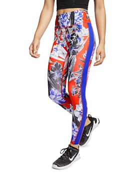 size 40 185de 6b362 Nike - All-In Floral Mesh-Stripe Leggings ...