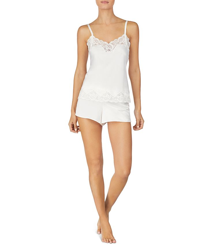 Ralph Lauren - Lace-Trim Satin Short PJ Set