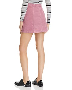rag & bone/JEAN - Rosie Button-Front Corduroy Mini Skirt