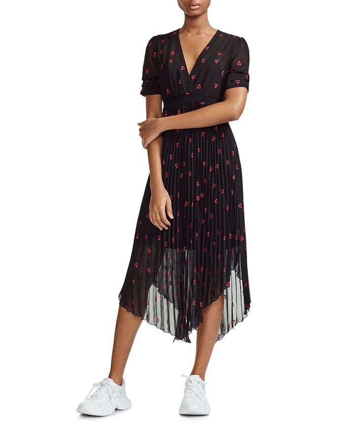 Maje Rengo Embroidered Heart Dress