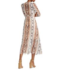 Maje - Repena Snake Print Midi Dress