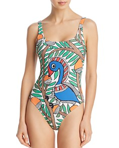 Tory Burch - Bird Printed Tank One Piece Swimsuit