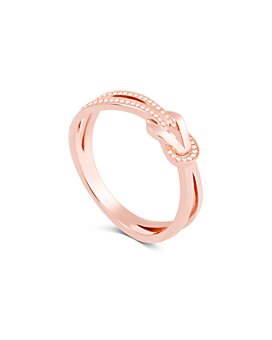 Fred - 18K Rose Gold 8° Partial Diamond Ring