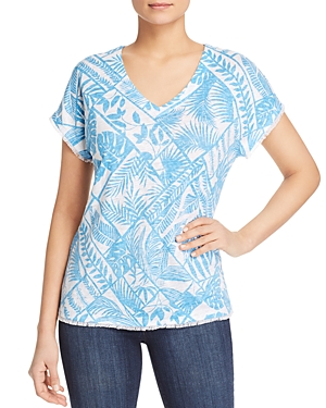 Tommy Bahama Frond of a Frond Printed Linen Tee