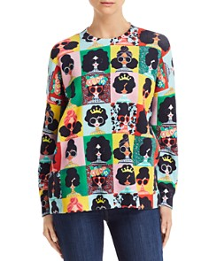 Alice and Olivia - Quintin Printed Sweater