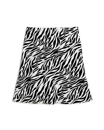 AQUA - Girls' Zebra Print Scuba A-Line Skirt - 100% Exclusive
