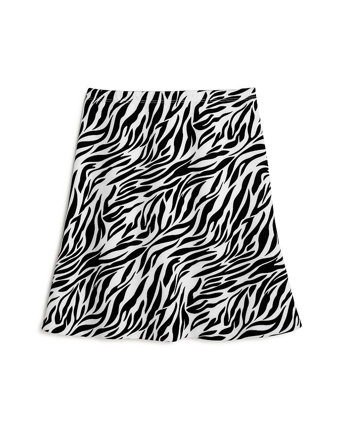 AQUA - Girls' Zebra Print Scuba A-Line Skirt - 100% Exclusive