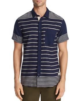 Scotch & Soda - Short-Sleeve Striped Regular Fit Shirt