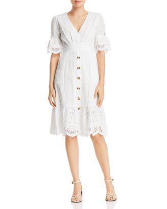 Eyelet Button Front Dress   100 Percents Exclusive by Aqua