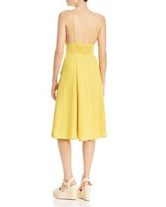 AQUA - V-Neck Button Front Dress - 100% Exclusive