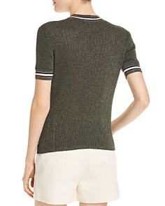 Scotch & Soda - Metallic Ribbed Top
