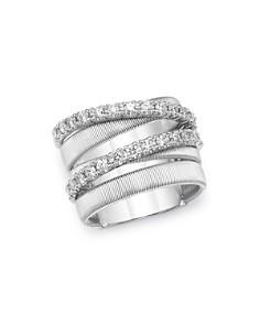 Marco Bicego - 18K White Gold Masai Diamond Crossover Ring