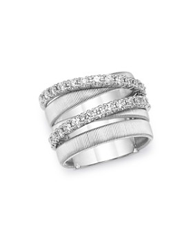 8c888574e Marco Bicego - 18K White Gold Masai Diamond Crossover Ring ...
