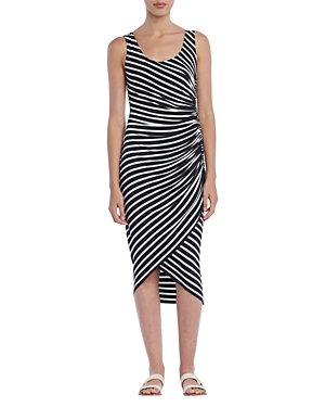 Bailey44 Dresses OBJET D'ART RUCHED STRIPED DRESS