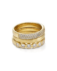Nadri - Stackable Rings, Set of 3