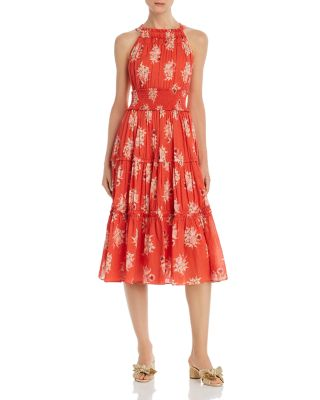 Catrine Floral Print Midi Dress by Rebecca Taylor