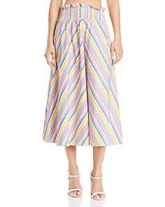 S/W/F - Striped Midi Skirt