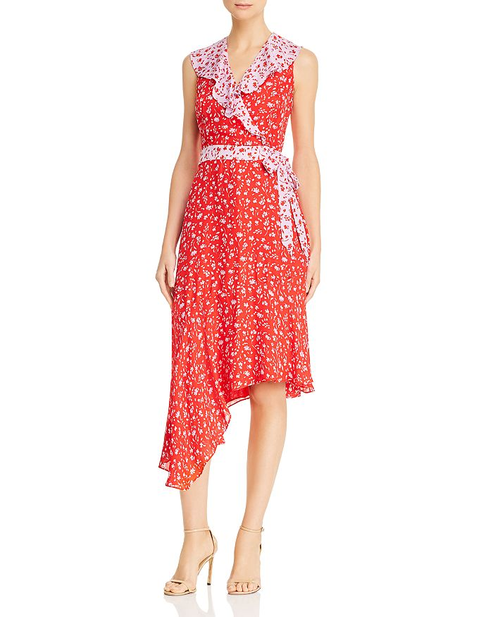 Parker - Jennifer Floral Color-Block Dress