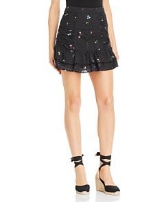 Parker - Nadia Floral-Print Eyelet Skirt
