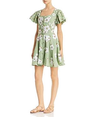 All Things Mochi Kay Floral-Embroidered Dress