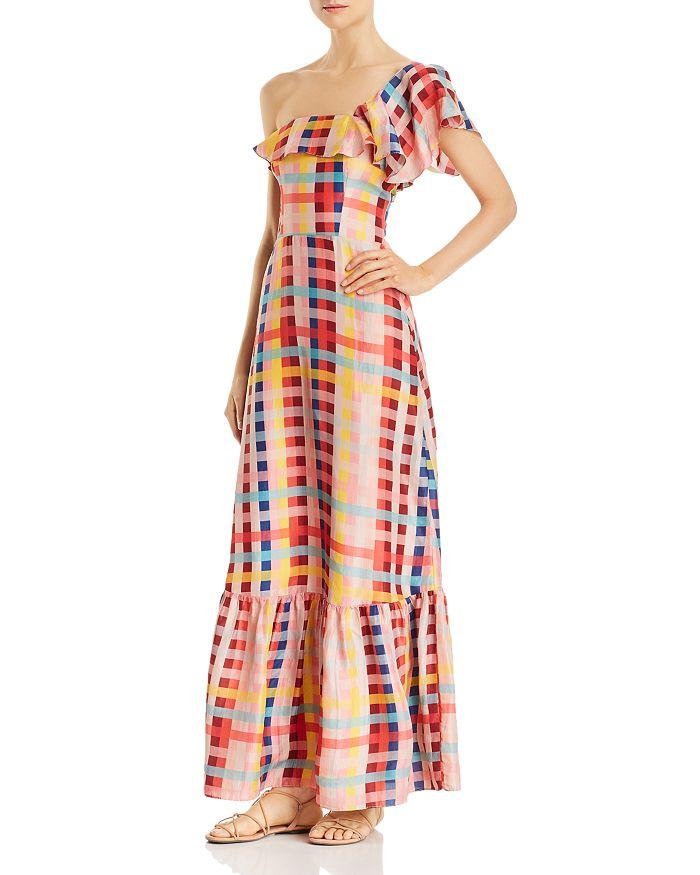 Carolina K - Una One-Shoulder Printed-Silk Maxi Dress