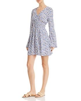 En Créme - Floral-Print Mini Dress - 100% Exclusive
