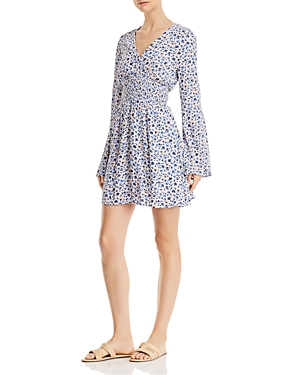 En Creme Floral-Print Mini Dress - 100% Exclusive