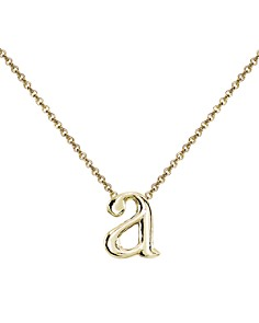 "AQUA - Initial Pendant Necklace in 18K Gold-Plated Sterling Silver, 14"" - 100% Exclusive"