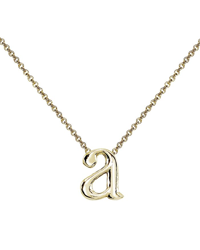 afe7b5fa5 Initial Pendant Necklace in 18K Gold-Plated Sterling Silver, 14