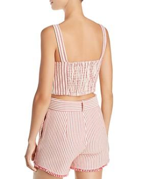 AQUA - Fringed Stripe Cropped Top - 100% Exclusive