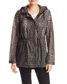 AQUA - Leopard Print Raincoat - 100% Exclusive