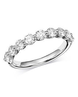 Bloomingdale's - Classic Prong-Set Diamond Band in 14K White Gold, 1.0 ct. t.w. - 100% Exclusive