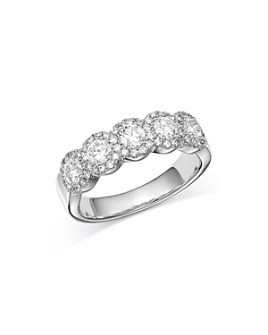 Bloomingdale's - Diamond 5-Stone Band in 14K White Gold, 1.0 ct. t.w. - 100% Exclusive