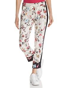 PAM & GELA - Zip-Hem Floral Cigarette Pants