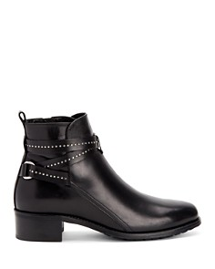 Aquatalia - Women's Odema Weatherproof Leather Studded Strap Booties