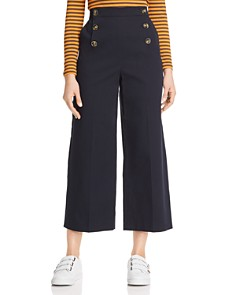 KAREN MILLEN - Cropped Wide-Leg Sailor Pants - 100% Exclusive