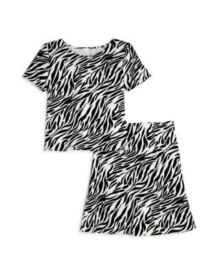 Girls' Zebra Print Scuba Tee - 100% Exclusive