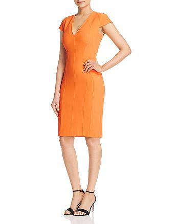 KAREN MILLEN - Angular Seamed Sheath Dress - 100% Exclusive