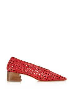Miista - Women's Taissa Woven Leather Pumps