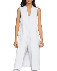 BCBGMAXAZRIA - Satin Long Vest