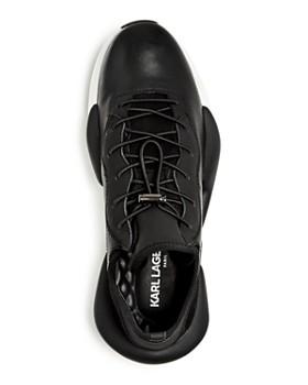 KARL LAGERFELD Paris - Men's Leather Low-Top Sneakers