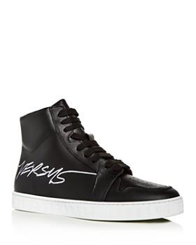 42d7cede5 Versus Versace - Men s Leather High-Top Sneakers ...