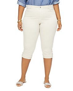 NYDJ Plus - Marilyn Cuffed Cropped Jeans in Feather