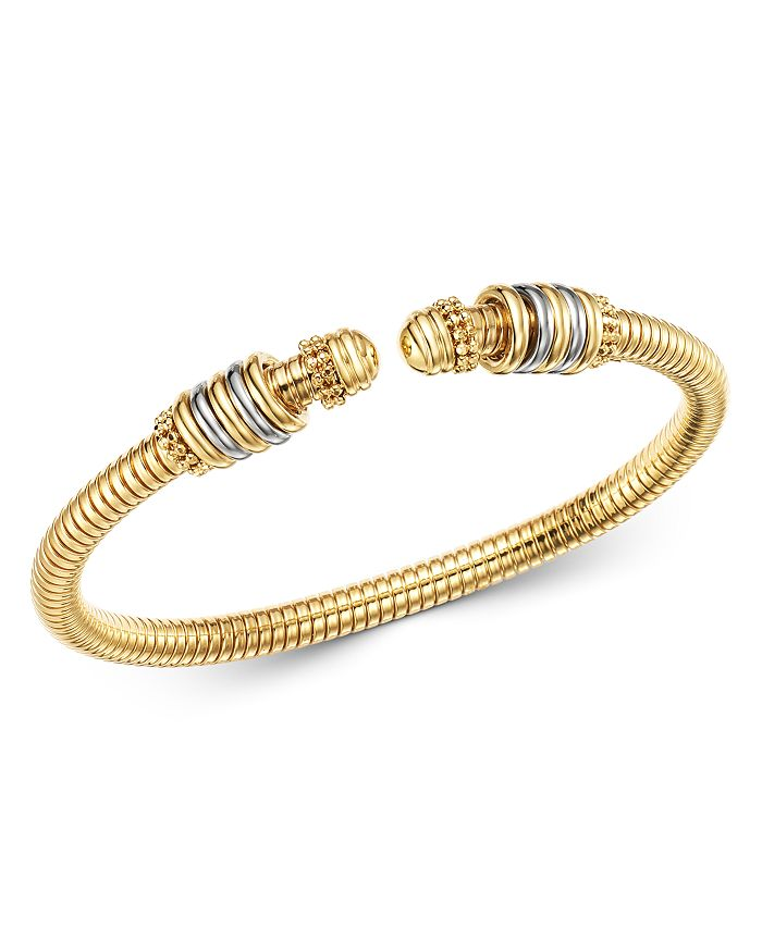 Bloomingdale's 14k Yellow & White Gold Tubogas Bangle Bracelet - 100% Exclusive In White/gold